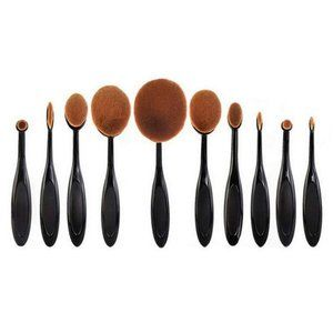 Makeup Brushes 10 Pcs Soft Oval Toothbrush